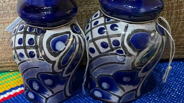 Blue Salt and Pepper shakers