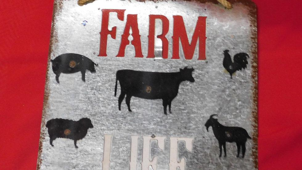 Farm Life Small Sign