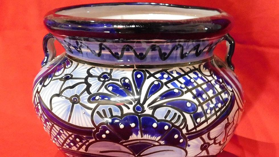 Talavera Bean Pottery Blue