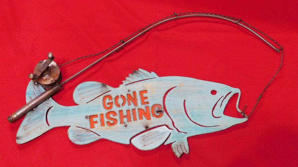 Gone Fishing Large Sign
