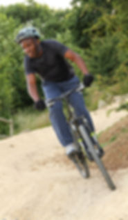 Corporate team building, mountain bike / mtb coaching at Hadleigh Park, home of the 2012 Olympics.