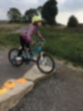 Girl having mountain bike coaching / cycle training at Hadleigh Park, home of the 2012 Olympics.