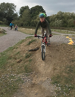 Boy having mountain bike coaching / cycle training at Hadleigh Park, home of the 2012 Olympics.