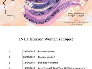 Activities coming up in the Horizon Women's Project