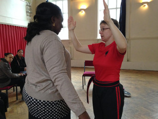 Women's Group Learn How to Protect Themselves