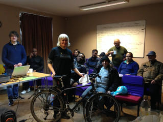INUF Members and Staff Learn about Safe Cycling
