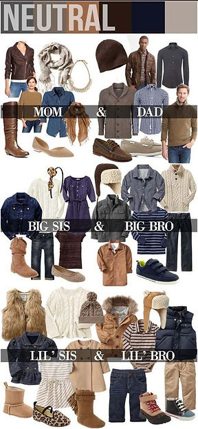 family photo clothing choices