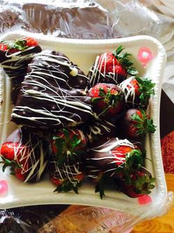 choc strawberries