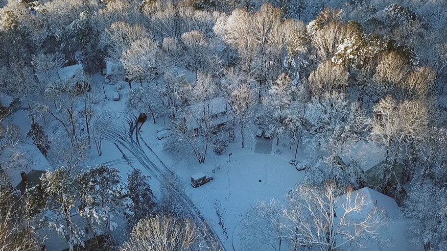 Drone video: Winter wonderland from the air