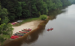 Canoeing at Bond Park in Cary, NC.