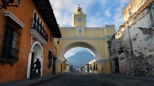 Dawn in Antigua, Guatemala