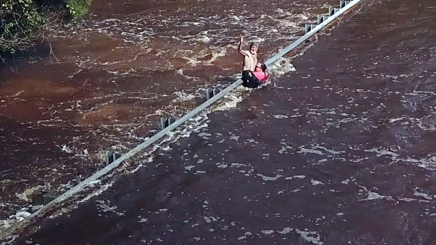 Dramatic rescue during Hurricane Florence in NC