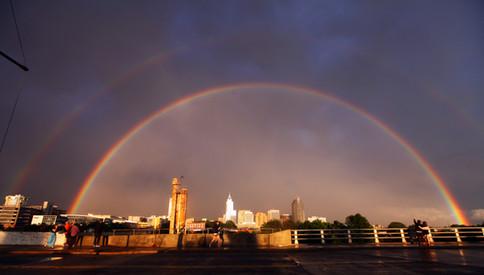 Double rainbow over Raleigh, NC