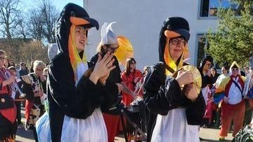 Unsere Pinguine am Applaudieren