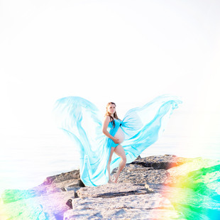 Maternity Fine Art & Lifestyle Family Photography Session: Rainbow Baby