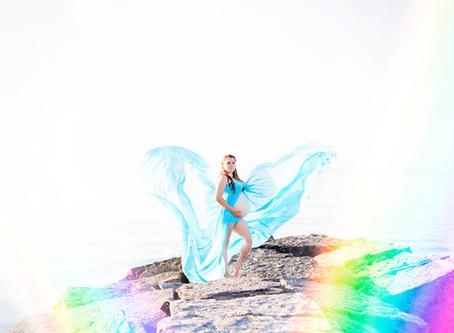 Maternity Fine Art & Lifestyle Family Photography Session: Rainbow Baby