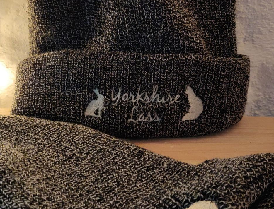 Yorkshire Lad & Lass knitted slouch beanie hats
