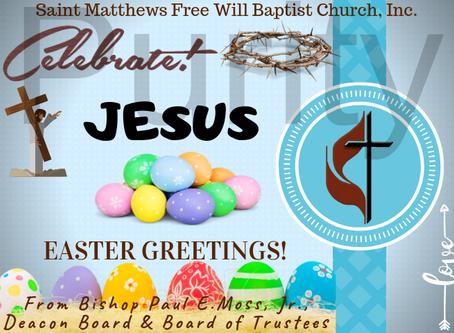 Easter Means Jesus Christ's Resurrection St. Luke 24:6-7