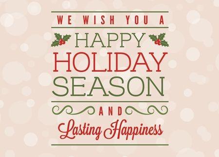 Happy Holidays (Holy Days)