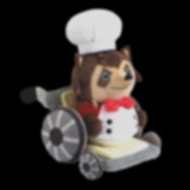 Overcooked Raccoon Chef Plush