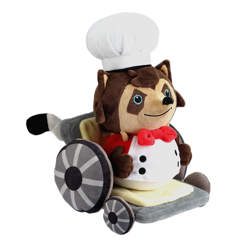 Overcooked Raccoon Chef Plush