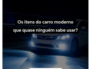 Os itens do carro moderno que quase ninguém sabe usar (ou para que servem)