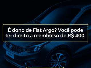 É dono de Fiat Argo? Você pode ter direito a reembolso de R$400.