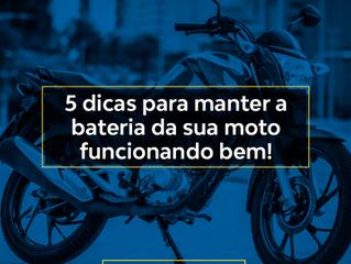 5 dicas para manter a bateria da sua moto funcionando bem!