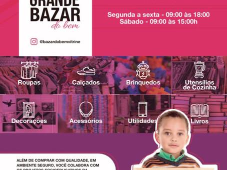 Grande Bazar do Bem de 7 à 12 de Dezembro de 2020