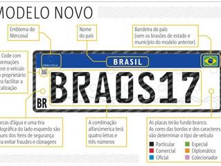 Placas Mercosul serão obrigatórias a partir de 31 de janeiro