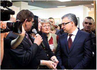 На открытии выставки. Ассамблея народов Подмосковья