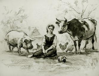 РинатК. Молочница и кувшин молока.jpg