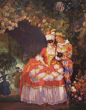 Арлекин и дама   Harlequin and the lady