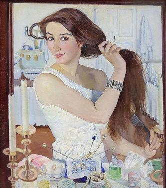 За туалетом. Автопортрет (1909).jpg