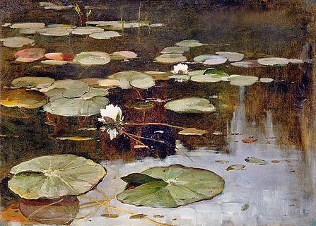 «Водяные лилии»  С картины Юлия Клевера