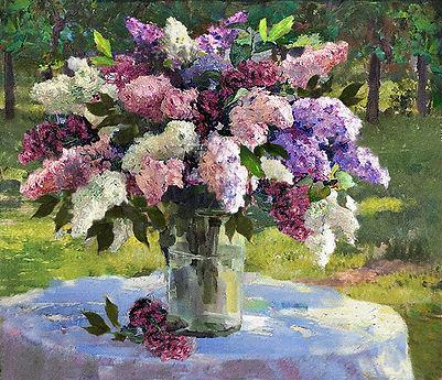 «Сирень в саду»  С картины Рэйя Кинсли