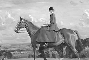 Portrait of Lady Barbara Lowther on Hors