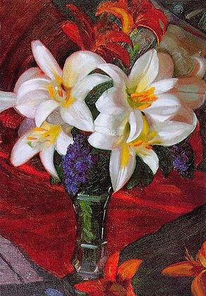 «Лилии»  С картины Святослава Рериха