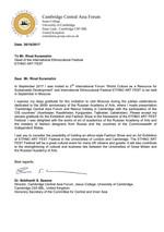 Благодрственное письмо Кембриджского университета