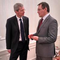 Р.Курамшин и Л. Бристоу - посол Великобритании в России