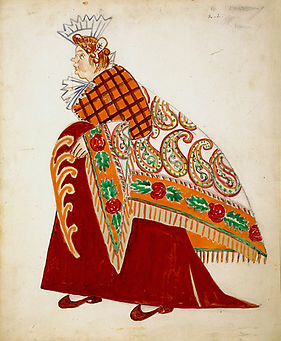 Matchmaker. Costume design for the balle
