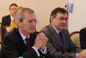 Р.Курамшин и Л. Бристоу-посол Великобритании в России