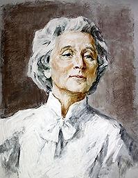 """Portrait of Marie Rambert""  ArtistRinat Kuramshin"