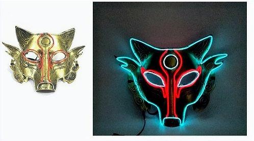 Halloween Light Up LED Werewolf Mask Handmade