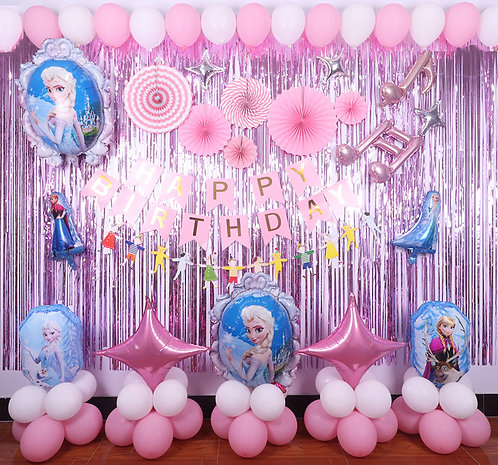 Disney Frozen Theme Balloon Party Box Pink