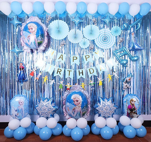 Disney Frozen Theme Balloon Party Box Blue