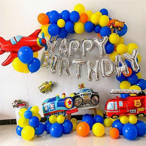 Transportation Theme Balloon Party Box Set B