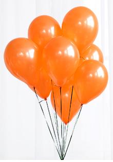 Halloween Balloons 10Pcs Orange