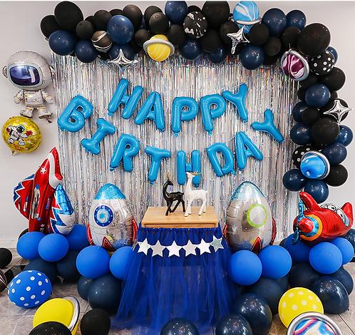 Outer Space Theme Balloon Party Box Set B