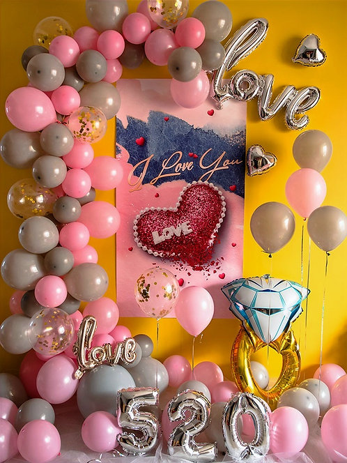 Romantic Balloon Decorations For Engagement & Bridal Showers